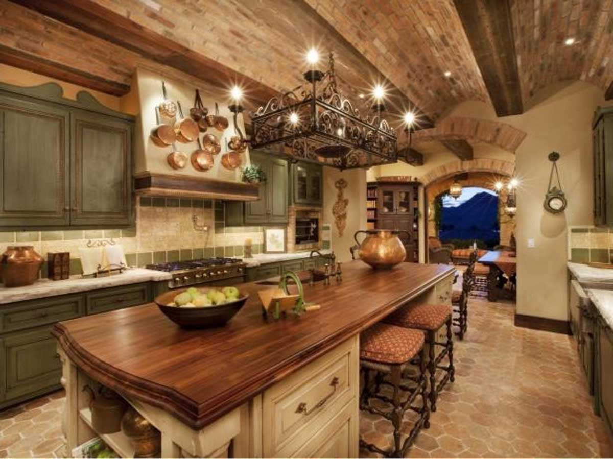 rustic is good for kitchen